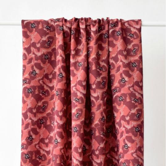 Viscose  Fabric Coquelicots Blossom