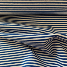 Bleu de France and White Striped Cotton Jersey fabric