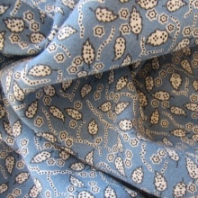 Remnant Light Blue Viscose & Wool fabric Foliage 78 cm x 153 cm