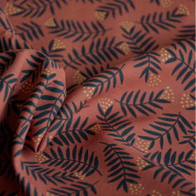 Viscose Fabric Rameaux Ambre