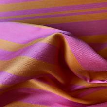 Remnant Striped Cotton Jacquard fabric orange and pink 42 cm x 145 cm