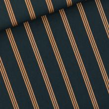 Remnant Three Lines Copper Coton Canvas Gabardine Twill 20 cm x 150 cm