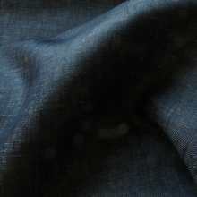 Linen Jeans fabric Blue Denim