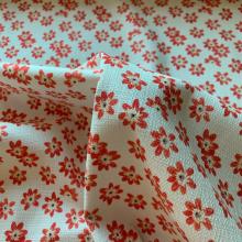 Cotton piqué stretch Orange Pansy