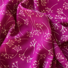 Viscose fabric Dandelions Cyclamen