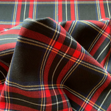 Black and red Tartan
