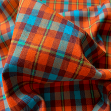 Brick and turchese Tartan
