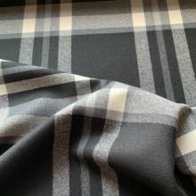 Black, grey and off white Wool Tartan Hugo Boss