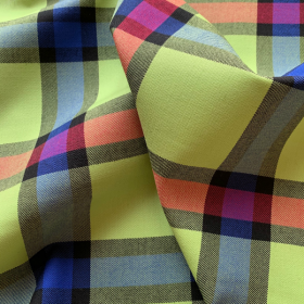Anise green, red and blue Tartan