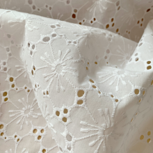 White broderie anglaise cotton Anemones