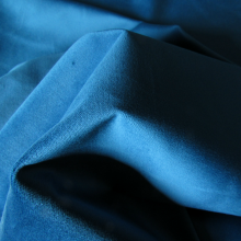 Cotton Velvet fabric Petrol Blue