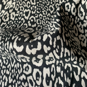 Black and off white speckled Jacquard Cotton