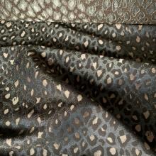 Golden Khaki Viscose and Wool Jacquard