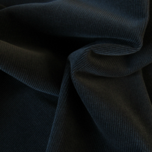 Navy blue Corduroy Cotton fabric