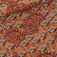 Gilly Flowers Cotton Canvas Gabardine Twill