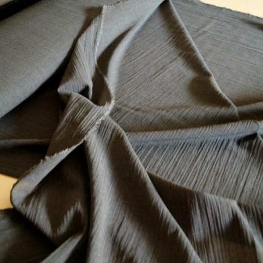 Black light wool fabric