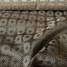 "Bronze Viscose & Silk Jacquard ""Lozenges"""