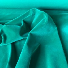 Cotton Velvet fabric Emerald Green