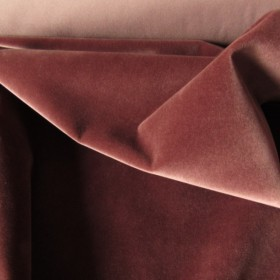 Candied chestnut colored Cotton Velvet fabric