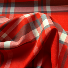 Remnant Red, off white and brown Tartan Hugo Boss 85 cm x 155 cm