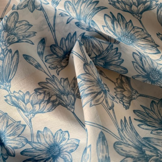 Cotton and Silk Tilly Blue
