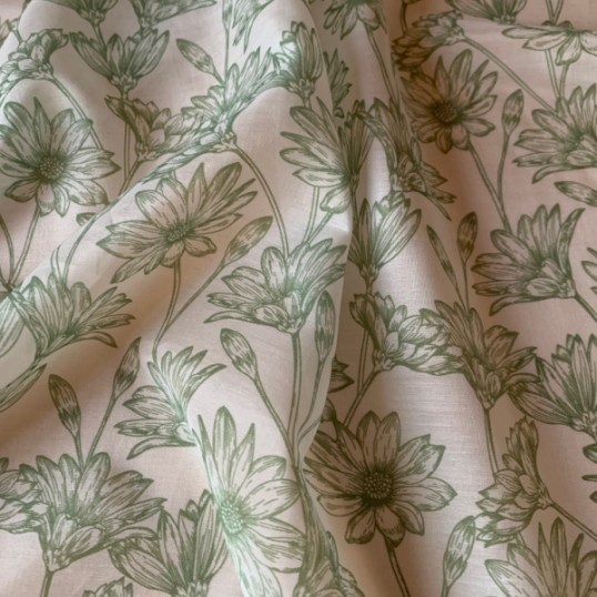 Cotton and Silk Tilly Green