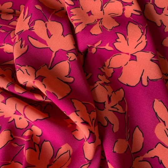 Floral Viscose Bougainvillea