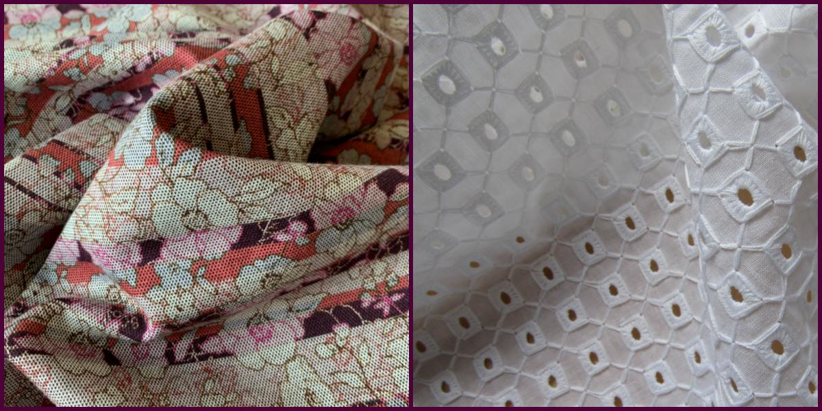 Jersey and Broderie anglaise