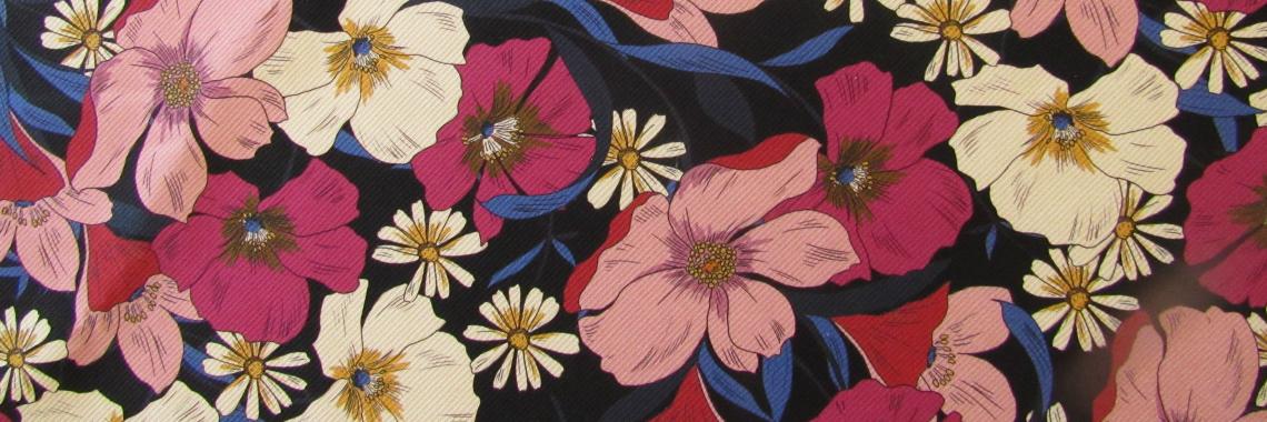 Cotton fabric Anemone