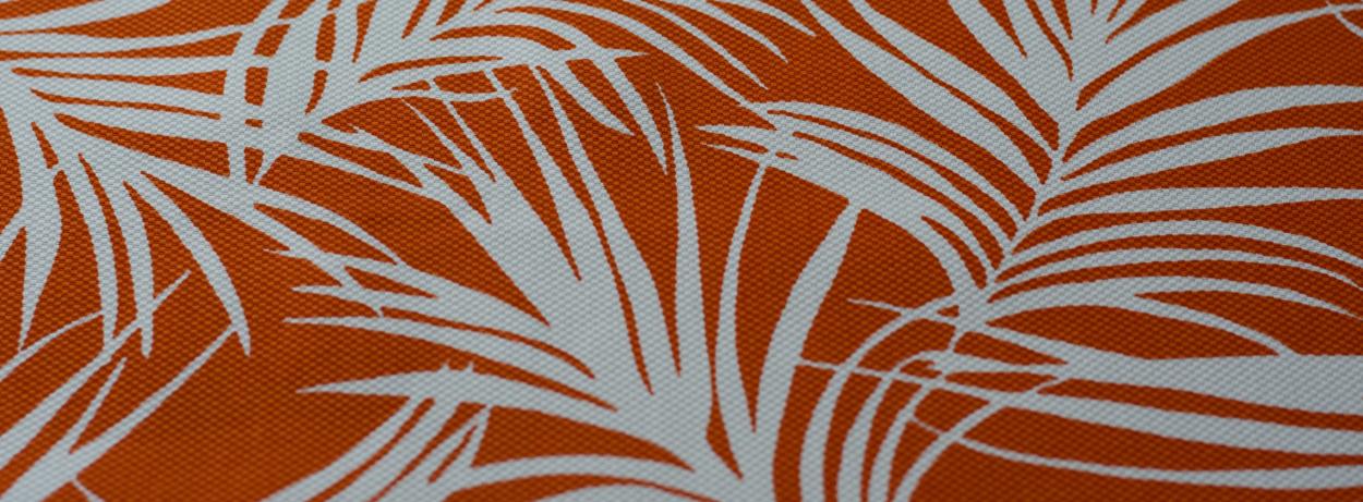 Pique di cotone Palma corallo