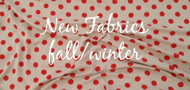 New fabrics online